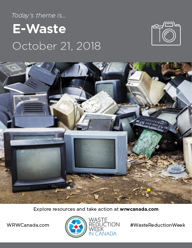 Waste Reduction Week E-waste Poster