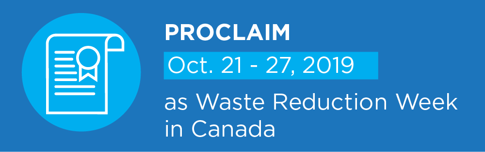 Proclaim Waste Reduction Week 2019 Banner